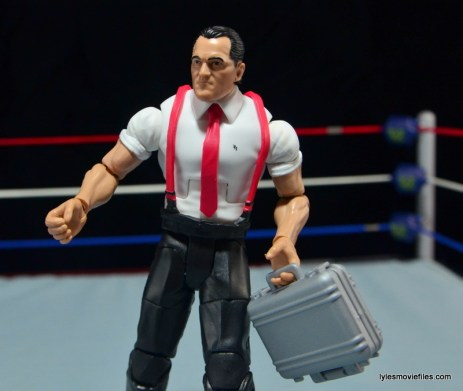 WWE IRS Mattel Elite figure review -holding briefcase