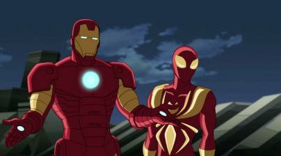 iron man and iron spider-man-min