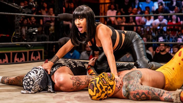 lucha underground - catrina over pentagon jr and prince puma