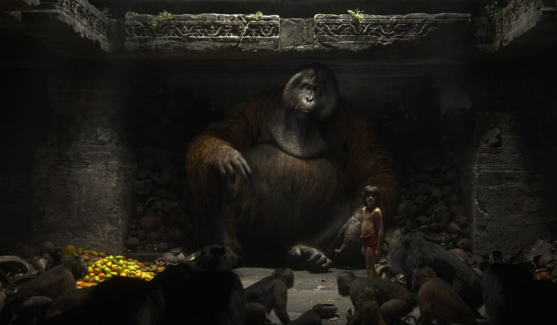 the jungle book review - King Louie and Mowgli-min