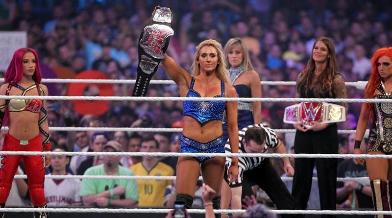 wrestlemania 32 - sasha banks, charlotte and becky lynch