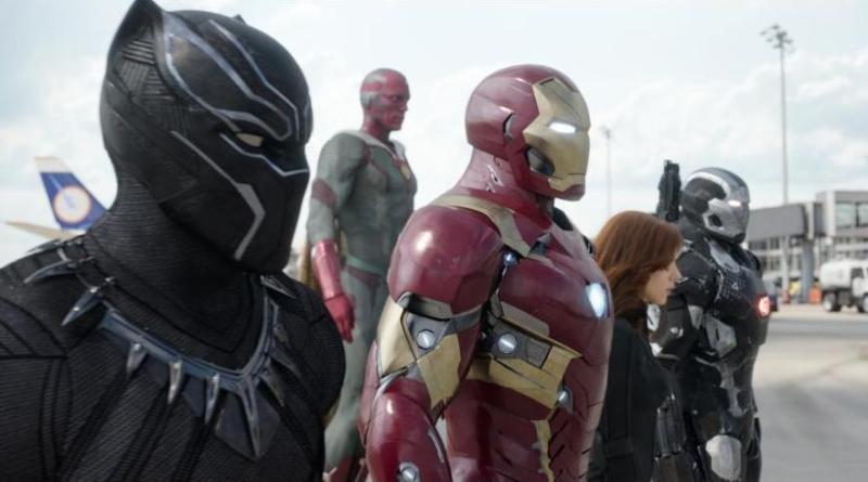 Captain America Civil War pictures - Black Panther, Vision, Black Widow, Iron Man and War Machine