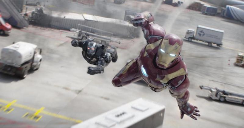 Captain America Civil War pictures - War Machine and Iron Man