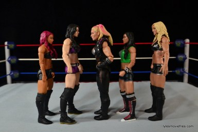 WWE Natalya figure review - scale with Sasha Banks, Paige, AJ Lee and Charlotte