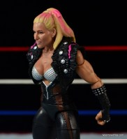 WWE Natalya figure review - sculpt details and shoulder pad closeup