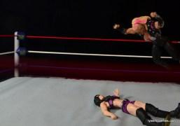 WWE Natalya figure review - splash to Paige