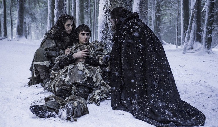 game of thrones blood of my blood - meera, bran and benjen stark