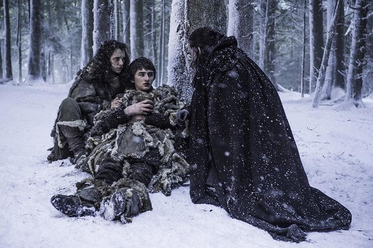 game of thrones blood of my blood - meera, bran and benjen stark