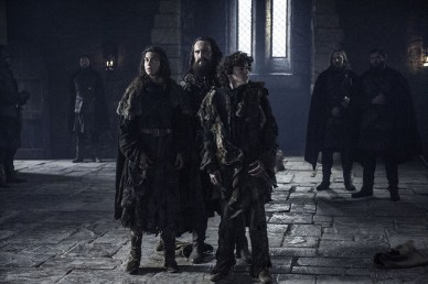 game of thrones oathbreaker Osha, Smalljon and Rickon