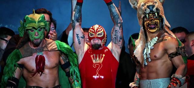 lucha underground el dragon azteca, rey mysterio and prince puma