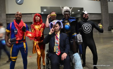 Awesome Con cosplay Day 2 -Bishop, Dark Phoenix, Cyclops, Storm, Havok and Professor X