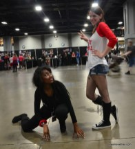 Awesome Con cosplay Day 2 -Catwoman and Harley Quinn