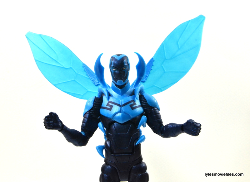 DC Icons Blue Beetle figure review -wings out