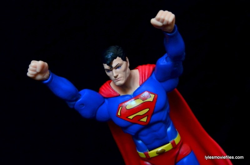DC Icons Superman figure review -flying off