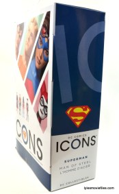 DC Icons Superman figure review - package right side