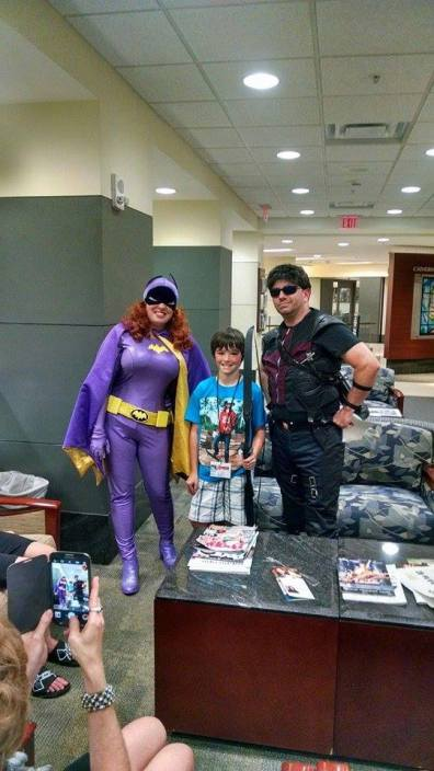 Heroes for Hope - Batgirl and Hawkeye visit