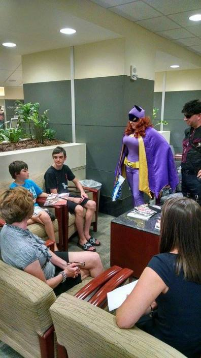 Heroes for Hope - Batgirl chats with new friends