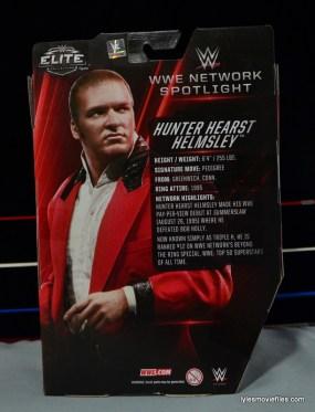 Hunter Hearst Helmsley WWE Network Spotlight figure -rear package