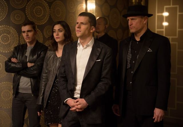 Now You See Me 2 - Dave Franco, Lizzy Caplan, Jesse Eisenberg and Woody Harrelson-min
