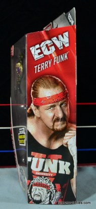 WWE Elite 41 Terry Funk figure review -side package
