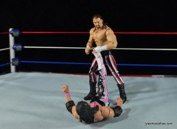 WWE Elite 41 Terry Funk figure review - spinning toe hold to Bret Hart