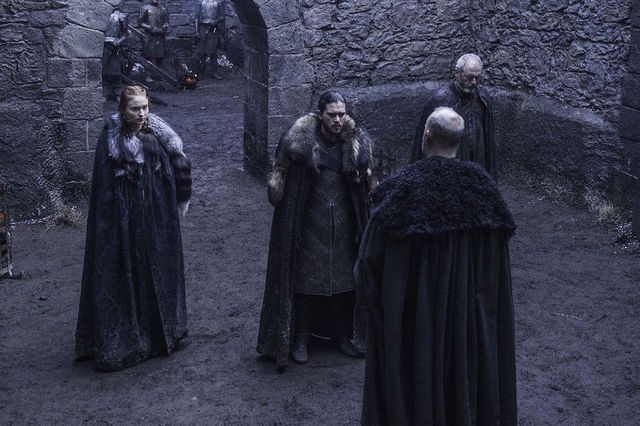 game of thrones the broken man-sansa jon and davos