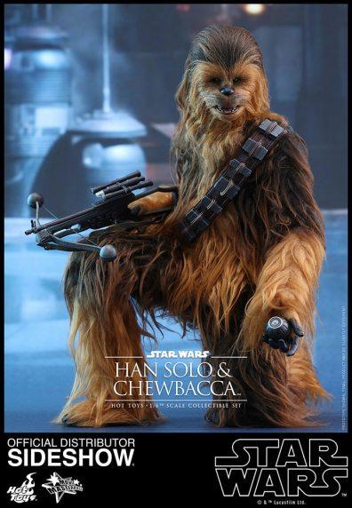 star-wars-the-force-awakens-han-and-chewbacca-sixth-scale-set-hot-toys-chewbacca planting detonators