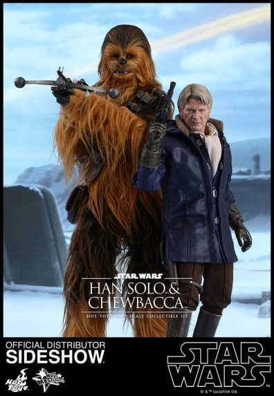 star-wars-the-force-awakens-han-and-chewbacca-sixth-scale-set-hot-toys-straight at Starkiller Base