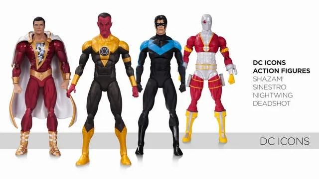 DC Icons Shazam, Sinestro, Nightwing and Deadshot - Copy