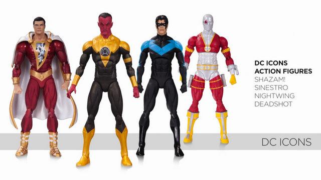 DC Icons Shazam, Sinestro, Nightwing and Deadshot - Copy