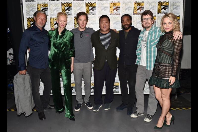 Doctor Strange cast - Madds Mikkelson, Tilda Swinton, Benedict Cumberbatch, Benedict Wong, Chiwetel Ejiofor, Scott Derrickson and Rachel McAdams
