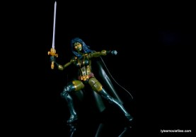 Guardians of the Galaxy Marvel Legends exclusive -Gamora posing