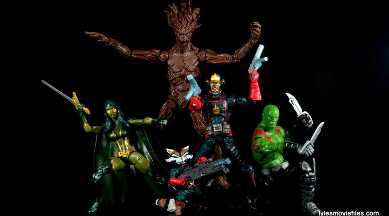 Guardians of the Galaxy Marvel Legends exclusive -Guardians battle pose
