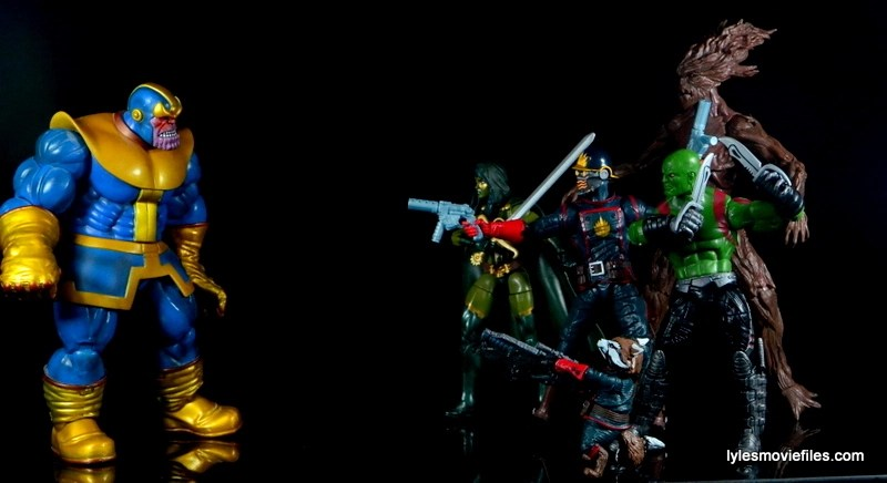 Guardians of the Galaxy Marvel Legends exclusive -Guardians face off with Thanos