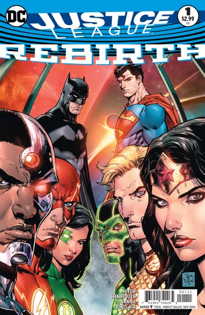 Justice League Rebirth review - cover