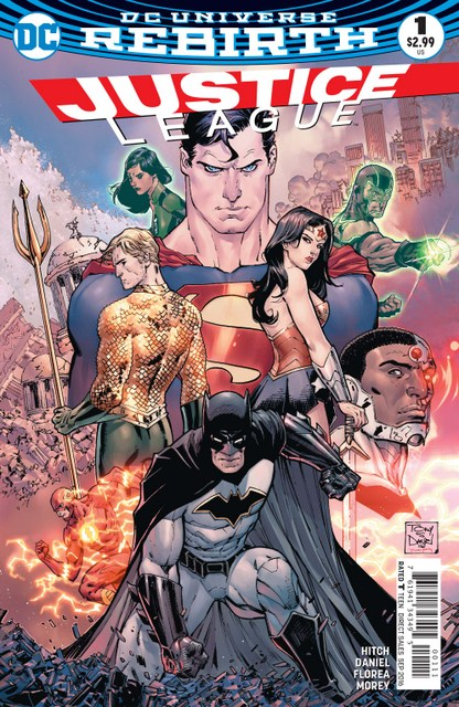 Justice League issue 1 cover