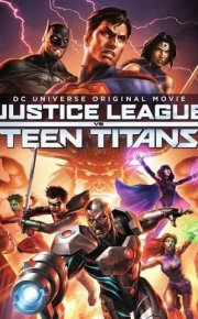 Justice League vs Teen Titans movie poster