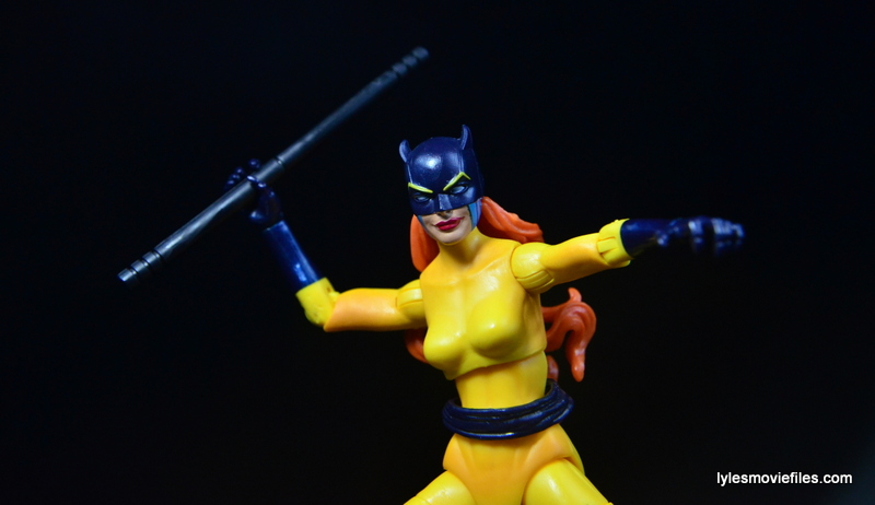 Marvel Legends Hellcat figure review - attacking with baton