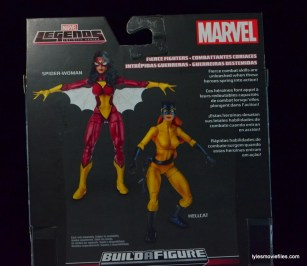 Marvel Legends Hellcat figure review -bio closeup
