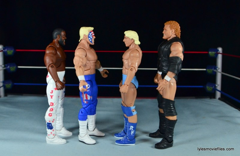 Sting Defining Moments figure review - scale with JYD, Flair and Sid Vicious