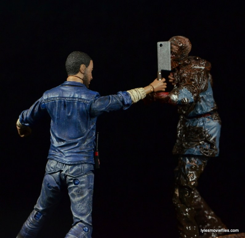 The Walking Dead Lee Everett McFarlane Toys figure -cleaver to walker