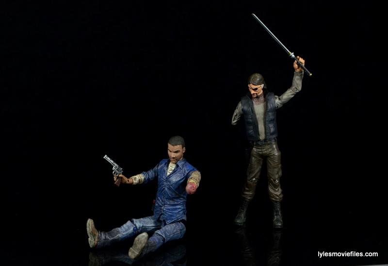 The Walking Dead Lee Everett McFarlane Toys figure -sitting down