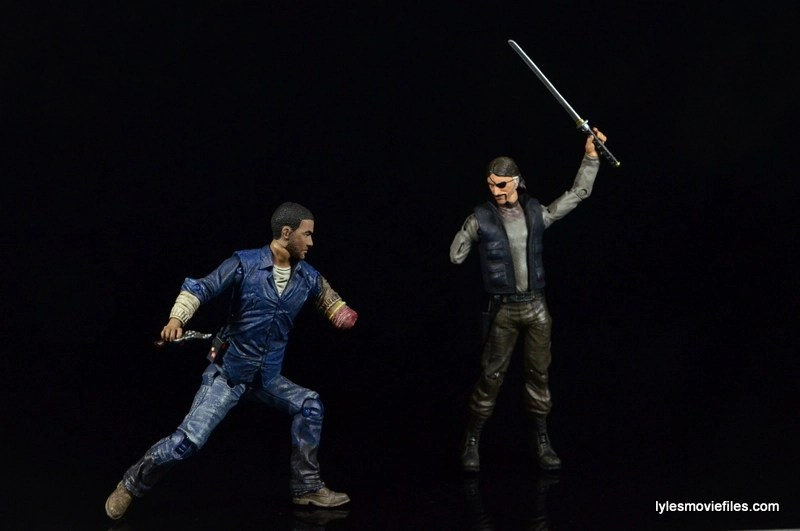 The Walking Dead Lee Everett McFarlane Toys figure - vs the comic The Governor