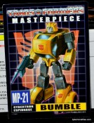 Transformers Masterpiece Bumblebee review -bio card front