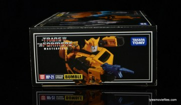Transformers Masterpiece Bumblebee review -side package right