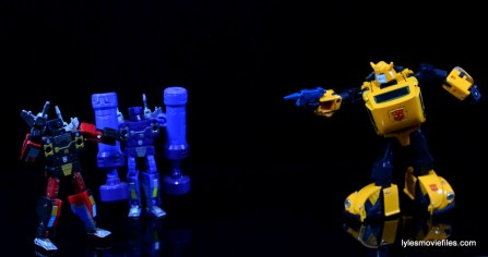 Transformers Masterpiece Bumblebee review - vs Frenzy and Rumble