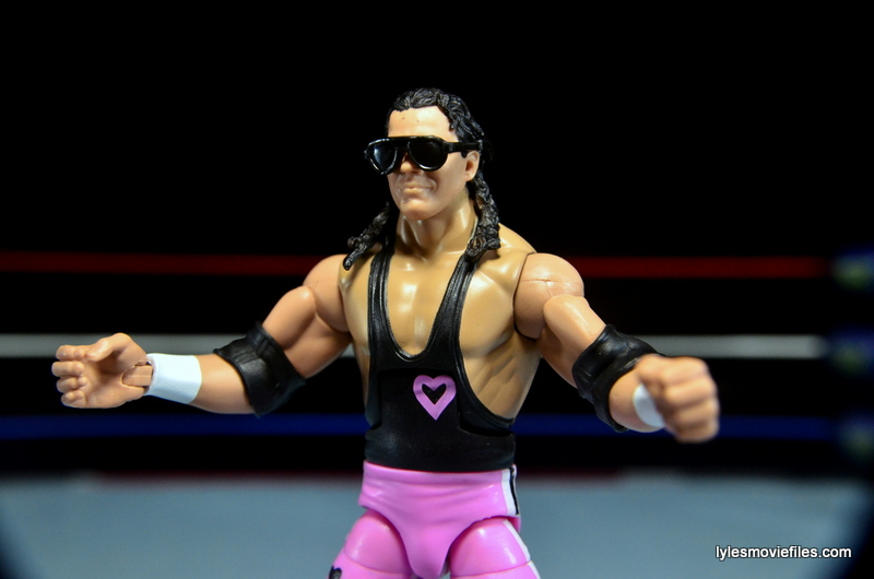 WWE Elite 43 Hart Foundation figures -Bret torso difference