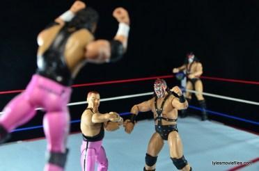 WWE Elite 43 Hart Foundation figures -flying ax handle to Smash