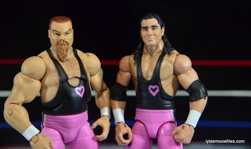 WWE Elite 43 Hart Foundation figures -main pic
