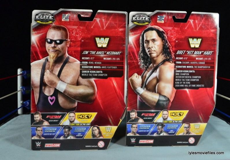 WWE Elite 43 Hart Foundation figures -rear package